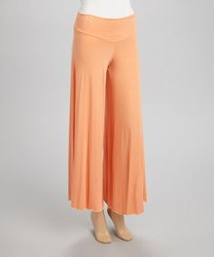 Love this Peach Studded Palazzo Pants by Quiz on #zulily! #zulilyfinds