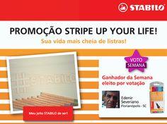 O mais VOTADO da última semana na promoção Stripe Up Your Life foi o Edenir, de Florianópolis. \o/