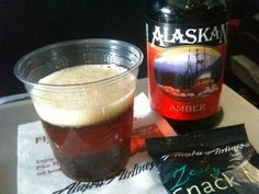 Alaskan Amber at Alaska Airlines Alcoholic Drinks, Beverages, More Beer, Alaska Airlines, Wine And Spirits, North West, Catering, Brewing, United States
