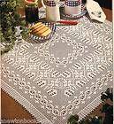 llittle houses tea filet tablecloth pattern | filet crochet pattern free filet crochet patterns religious filet ...