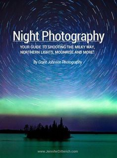Introduction to Night Photography Learn how to take pictures of the Milky Way, Northern Lights, moonrise, start trails and more with this handy guide. Plus, get free cheat sheets that you can print and take with you when you go out to shoot the stars! Photography Cheat Sheets, Landscape Photography Tips, Photography Basics, Photography Lessons, Photography Camera, Photoshop Photography, Night Photography, Photography Tutorials, Photography Business