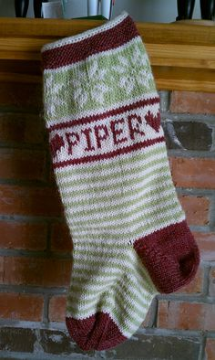 Ravelry: quiltingblockhead's Piper's Christmas Stocking in GMS Mountain Mohair