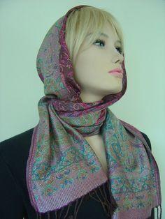 Weiteres - Kapuzenschal Kaschmir Milena Paisleymuster - ein Designerstück von hofatelier-mode bei DaWanda