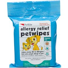 Petkin Allergy Relief Pet Wipes. I need this for Buster!