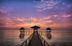 sunrise in kenjeran surabaya, indonesia