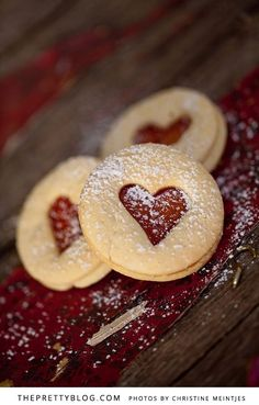 Jam Heart Biscuits | Recipes | The Pretty Blog