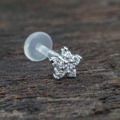 Zircon Flower Cartilage Earrings Helix Earring Helix Piercing Tragus Earrings Tragus jewelry