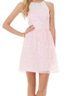Lilly Pulitzer Kailey Chiffon Halter Dress