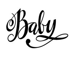 The last few weeks I've been focusing a lot on hand-lettering. Silhouette Cameo, Silhouette Images, Silhouette Files, Silhouette Projects, Silhouette Design, Baby Clip Art, Scan And Cut, Baby Scrapbook, Digi Stamps