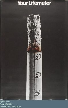I found this Visual Metaphor on smokingshelters.org. This is really effective advertisement which shows a burning cigarette, Markings on it shows the life of smoker. Burning shows the degrading life of smoker.