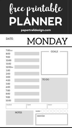 Monthly Planner Template {Printable Planner Pages}. Free printable day planner pages DIY. To do list, menu plan, weekly meal plan, calendar to get organized. room posters free printables Monthly Planner Template {Printable Planner Pages}