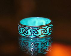 Celtic design ring GLOW in the DARK by Papillon9 on Etsy #ring