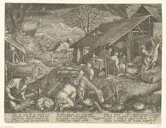Winter, Jacques Callot, Johann Sadeler (I), Jacopo Bassano, 1609 - 1611