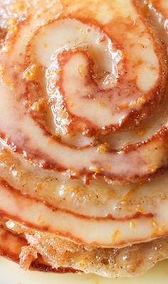 Orange Sweet Roll Pancakes