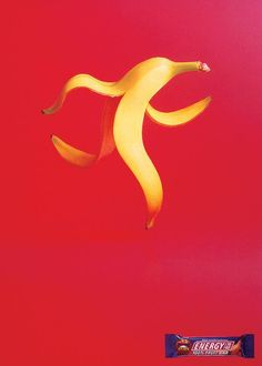 The Print Ad titled BANANA was done by DDB Toronto advertising agency for product: Energy To Go Fruit Bar (brand: Sun-rype) in Canada. Art Director, Creative Director, Banana Print, Nutrition Bars, Fruit Print, Ad Design, Print Ads, Banana Energy, Creations