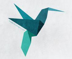 Origami Bird Teal Bird Concepts