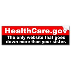 HealthCare Dot Gov Website Goes Down Bumper Sticker Funny Bumper Stickers, Car Magnets, Custom Stickers, Health Care, Dots, Website, Personalized Stickers, Stitches, Funny Car Stickers