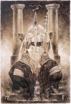 V. The Hierophant by Luis Royo