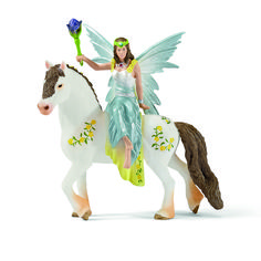 Schleich Eyela in Festive Clothes Riding 70516 Elves Elves Toy Figurine