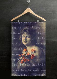 Feminist Collage Poster, Framed Antique Victorian Photo, Feminist Art, Digital Altered Art, Gift for Her, Vintage Digital Image, Scrapbook