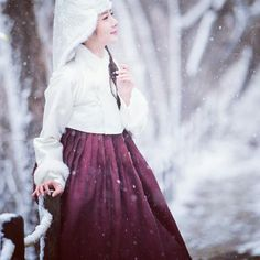 winter hanbok, korean traditional costume, koreanstyle, 베틀한복, snow..winter.. 누비한복.. 겨울한복..