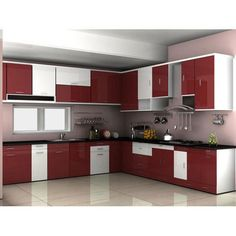 A Modular Kitchen Dealer Can Provide A Top Quality Kitchen Mahalaxmi Kitchen World offers services a Kitchen Cupboard Designs, Kitchen Room Design, Modern Kitchen Cabinets, Kitchen Layout, Interior Design Kitchen, Kitchen Furniture, Home Design, Kitchen Modern, Kitchen Floor