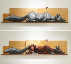 Metazoa: Mixed-Media Cabinets by 'ROA' Reveal the Hidden Anatomy of Animals