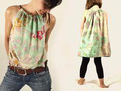 free pattern - DIY: Damentop und Kinderkleid von chamue* - Nähen bei DaWanda