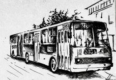 GRAFIKA NA ŚCIANĘ IKARUS AUTOBUS WARSZAWA w HOMEart na DaWanda.com