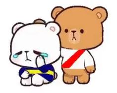 Cute Bear Drawings, Cute Love Gif, Brown Line, Moca, Cute Bears, Charlie Brown, Winnie The Pooh, Disney Characters, Fictional Characters