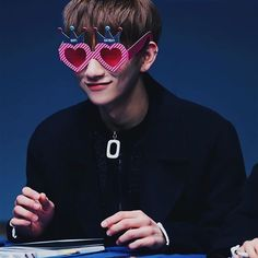 "good morning friends happy friday! here's a cute pic of joshua in ""happy birthday"" sunglasses hehe ⠀ 170101 ; © once in a blue moon my filter • do not repost → JOSHUA @ Sinchon Fansign . #Joshua #조슈아 #Jisoo #지수 #HongJisoo #홍지수 #Seventeen #17 #세븐틴 #170101"