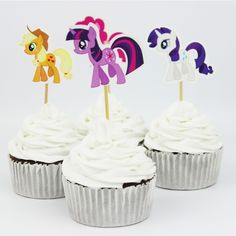 My little Pony Cupcake Toppers //Price: $13.95 & FREE Shipping //     #cakedesign