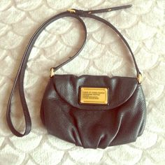 Marc by Marc Jacobs black cross odd Bag lightly used in good condition. There is a lipstick stain on interior, but leather exterior in very good condition. No scratches. Marc by Marc Jacobs Bags Crossbody Bags