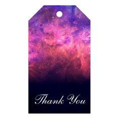 Pink Purple Starry Sky Cosmic Galaxy Sky Fire Glow Gift Tags - birthday gifts party celebration custom gift ideas diy