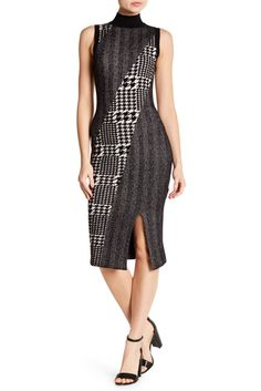 Image of Rachel Rachel Roy Mixed Pattern Jacquard Dress
