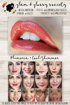 Plumeria LipSense, Cool/Blue Base, Shimmer Finish To Order: Click this image to visit Glam & Glossy Society's FB Client Group or DM me on Instagram @Glam.and.Glossy.Society  Keywords: Lips, beauty, makeup, fashion, 2017, matte, gloss, lip color, lip stick