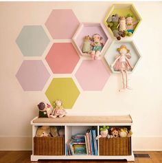 Colorful hexagons