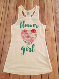 Flower girl racerback tank top Flower Girl glitter by SnowSew