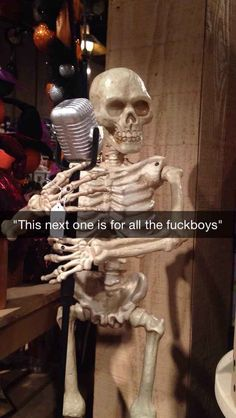 WTF memes - Find WTF GIFs, videos & more at theCHIVE. Skeleton Pics, Funny Skeleton, Stupid Funny Memes, Funny Laugh, Hilarious, Spooky Memes, Spooky Scary, Funny Reaction Pictures, Funny Pictures