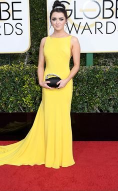 Maisie Williams from 2017 Golden Globes Red Carpet Arrivals