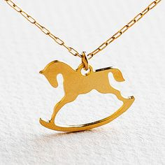 rocking horse necklacehorse jewelryhorse charm by meydalle on Etsy, $35.00