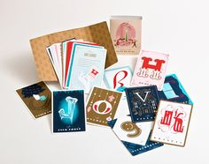 Holiday Card Set -- can be used as gift tags or ornaments.