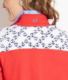 Shop Pullovers: Anchor Print Shep Shirt for Women | Vineyard Vines