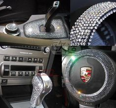 Sparkling car decoration car stickers cell phone rhinestone stickers notebook rhinestone pasted diamond paste accessories diy-inStickers fro...