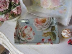 Peony Lux Tray Dollhouse Plate by alavenderdilly on Etsy, $4.50
