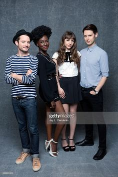 Elijah Wood, Jade Eshete, Hannah Marks and Samuel Barnett of 'Dirk Gently' are photographed for Los Angeles Times at San Diego Comic Con on July 22, 2016 in San Diego, California.