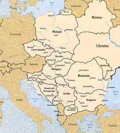 Eastern Europe map for fun! :P