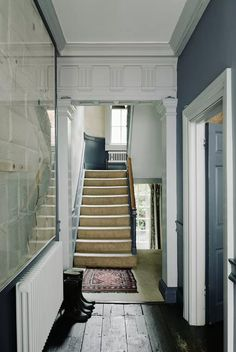 entryway and staircase inside english bed and breakfast featured on house and garden. / sfgirlbybay