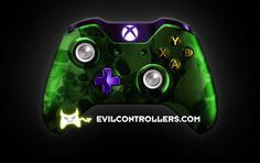 XboxOneController-GreenSkullz | Flickr - Photo Sharing! #Xbox1Controller #CustomController #customXboxOneController #xboxone