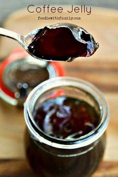 Black Coffee Jelly Recipe - DIY Gift World - Food - coffee Recipes Coffee Jelly, Coffee Coffee, Drink Coffee, Coffee Dessert, Coffee Cups, Coffee Shop, Coffee Maker, Sweet Coffee, Coffee Truck